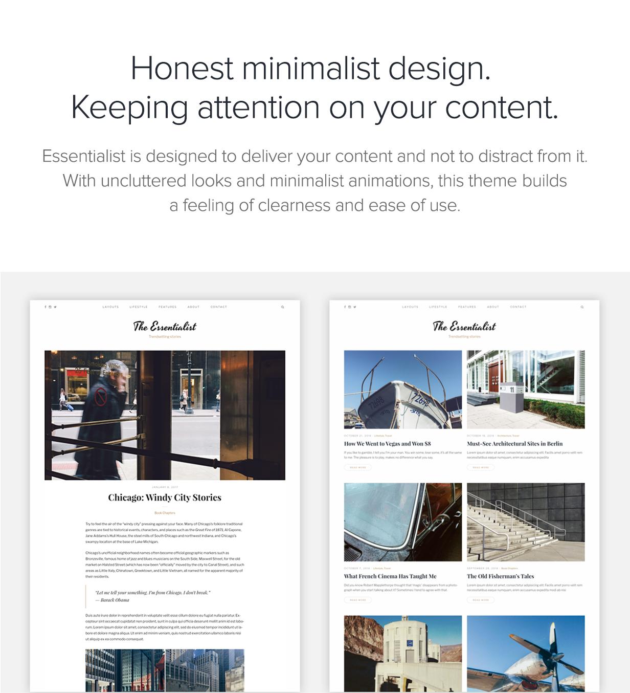 Essentialist — A Narrative WordPress Blog Theme - 1